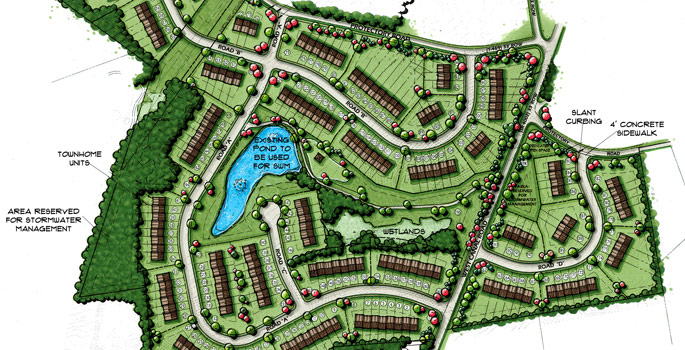 Services k w engineers and consultants pennsylvania for Residential site plan